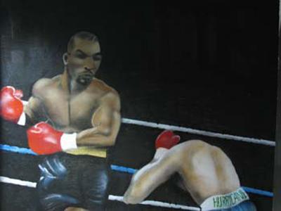 mike tyson vs Ali graffiti by piker